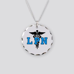 LPN Medical Symbol Necklace Circle Charm