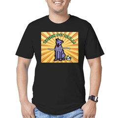 Think Pit Bull! Men's Fitted T-Shirt (dark)