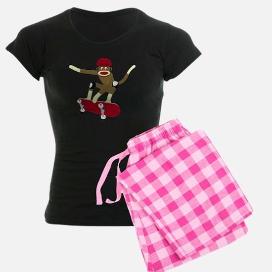 Sock Monkey Skateboarder Pajamas