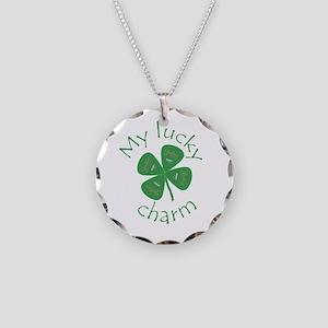 Lucky Clover Guitar Picks Necklace Circle Charm