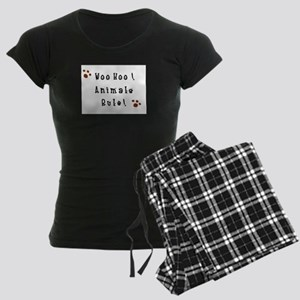Woo Hoo! Animals Rule! Women's Dark Pajamas