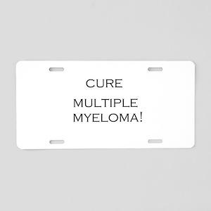 Cure Multiple Myeloma Aluminum License Plate