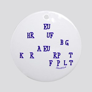 COURT REPORTER Ornament (Round)