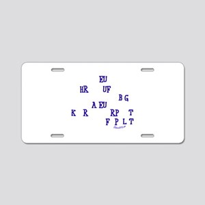 COURT REPORTER Aluminum License Plate