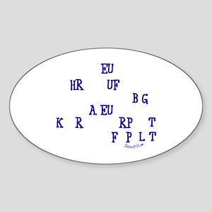 COURT REPORTER Sticker (Oval)