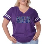 agent of status quo Women's Plus Size Football T-S