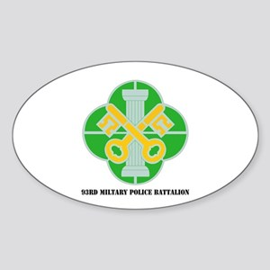 DUI - 93rd Military Police Bn with Text Sticker (O