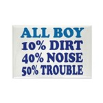 All Boy Rectangle Magnet (10 pack)