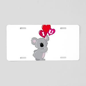 Koala Loves You Aluminum License Plate