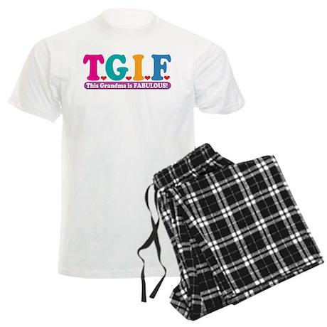 Fabulous Grandma Men's Light Pajamas