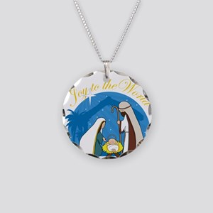 Nativity Scene Necklace Circle Charm