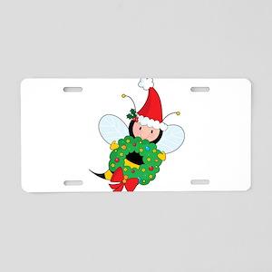Bee Christmas Aluminum License Plate