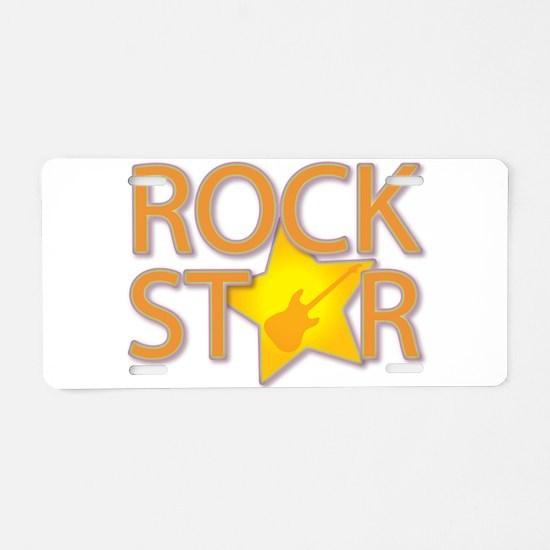 Rock Star Aluminum License Plate