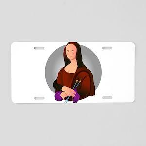 Mona Knits Aluminum License Plate