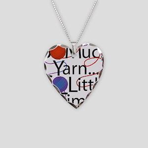 So Much Yarn Necklace Heart Charm