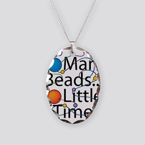 So Many Beads.. Necklace Oval Charm
