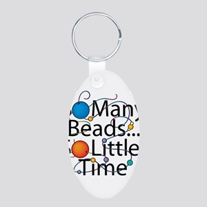 So Many Beads.. Aluminum Oval Keychain