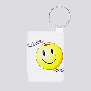 Beaders Do It Happily Aluminum Photo Keychain