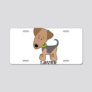 Airedale Lover Aluminum License Plate