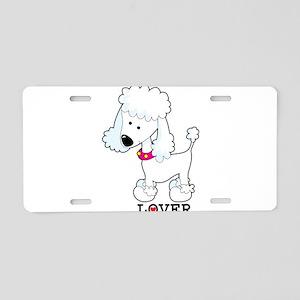 Poodle Lover Aluminum License Plate