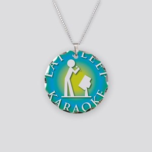 Eat Sleep KARAOKE Necklace Circle Charm