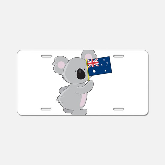 Koala Australian Flag Aluminum License Plate