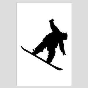 Snowboarding Large Poster