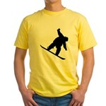 Snowboarding Yellow T-Shirt