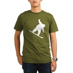 Snowboarding Organic Men's T-Shirt (dark)