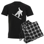 Snowboarding Men's Dark Pajamas