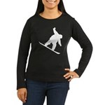 Snowboarding Women's Long Sleeve Dark T-Shirt