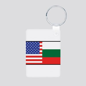 USA/Bulgaria Aluminum Photo Keychain