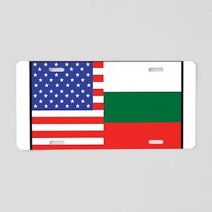 USA/Bulgaria Aluminum License Plate