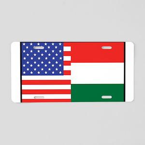 USA/Hungary Aluminum License Plate