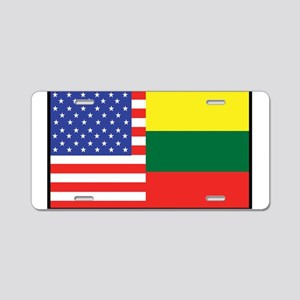 USA/Lithuania Aluminum License Plate