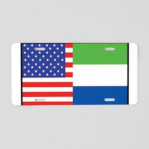 USA/Sierra Leone Aluminum License Plate