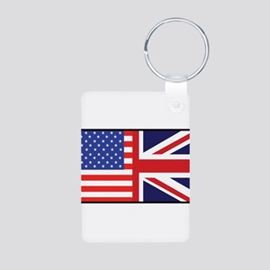 USA/Britain Aluminum Photo Keychain