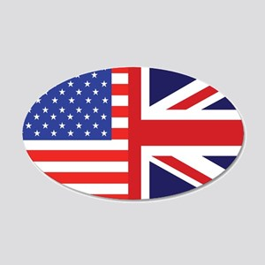 USA/Britain 22x14 Oval Wall Peel