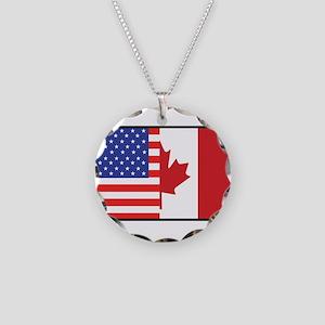 USA/Canada Necklace Circle Charm
