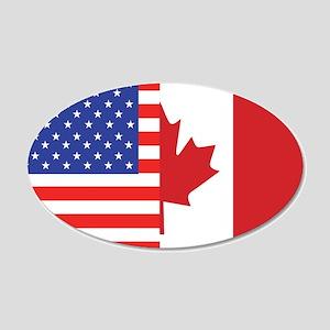 USA/Canada 22x14 Oval Wall Peel