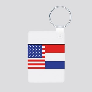 USA/Holland Aluminum Photo Keychain
