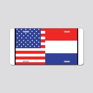 USA/Holland Aluminum License Plate