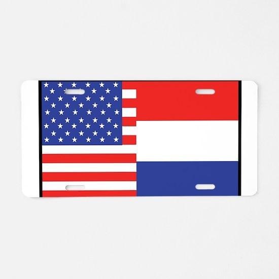 USA/Holland Aluminum License Plate