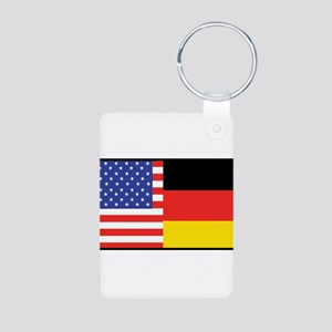 USA/Germany Aluminum Photo Keychain