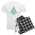 Christmas Tree Men's Light Pajamas