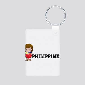 I love Philippines Aluminum Photo Keychain