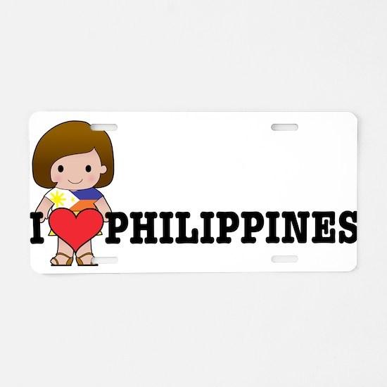 I love Philippines Aluminum License Plate