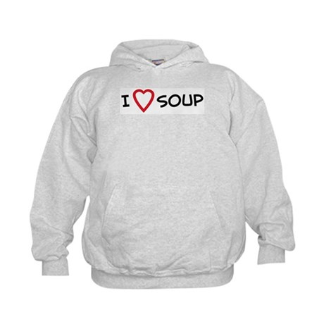I Love Soup Kids Hoodie