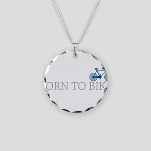 Born to Bike Necklace Circle Charm