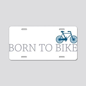 Born to Bike Aluminum License Plate